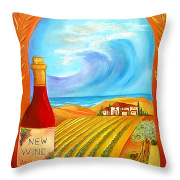New Wine  Joel 2 Throw Pillow