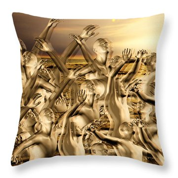 New World Surrender Throw Pillow by Betsy Knapp