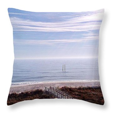 New Year Carolina Beach Throw Pillow