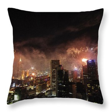 New Year Fireworks Throw Pillow