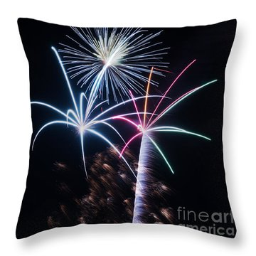 Throw Pillow featuring the photograph New Year Greetings by Rima Biswas