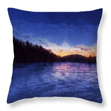 Throw Pillow featuring the photograph New Year Sunrise by Tom Singleton