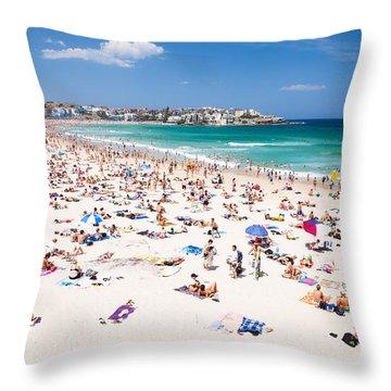New Year's Day At Bondi Beach Sydney Australi Throw Pillow by Matteo Colombo