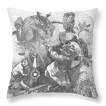 New Years Eve 1884 Throw Pillow