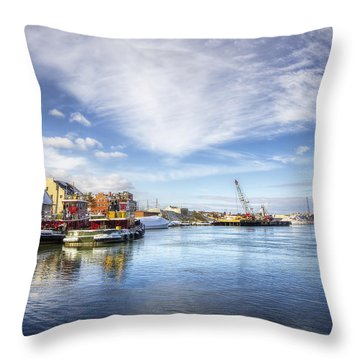 New Years In Portsmouth Nh Throw Pillow