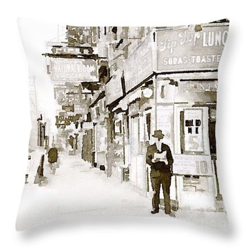 New York 1940 Throw Pillow