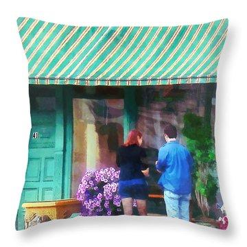 New York - Antique Shop Canandaigua Ny Throw Pillow by Susan Savad