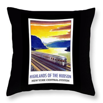 New York Central Vintage Poster Throw Pillow