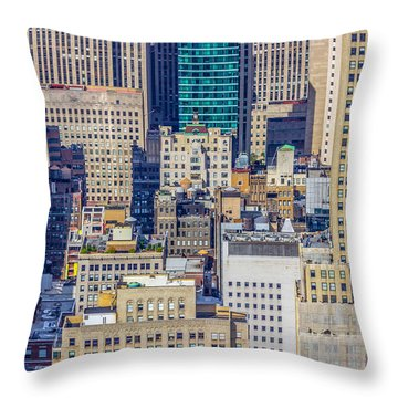 New York City Buildings Abstract Throw Pillow
