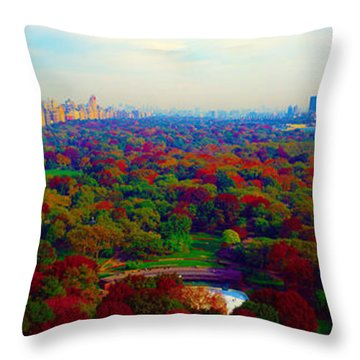 New York City Central Park South Throw Pillow