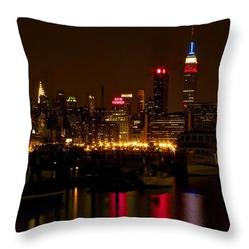 Throw Pillow featuring the photograph New York City by Dave Files