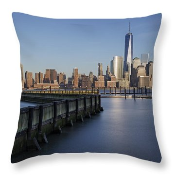 New York City Financial District Throw Pillow by Susan Candelario