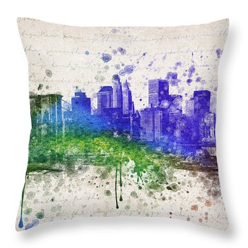New York City In Color Throw Pillow