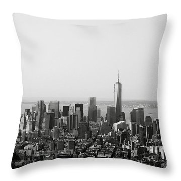 New York City Throw Pillow by Linda Woods