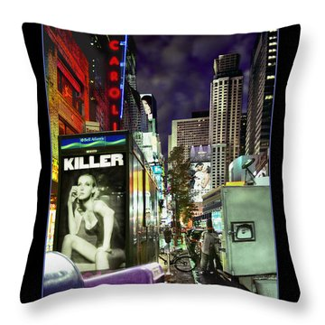 New York City Throw Pillow by Mike McGlothlen