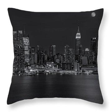 New York City Night Lights Throw Pillow by Susan Candelario