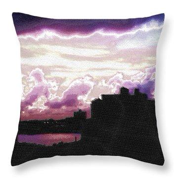 New York City Rooftops Throw Pillow by Tony Rubino
