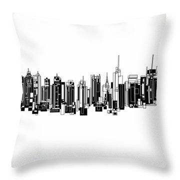 New York City Throw Pillow by Sheep McTavish