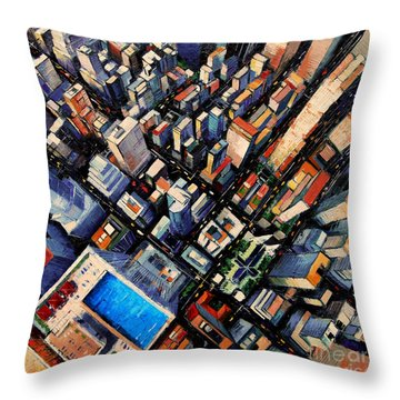 New York City Sky View Throw Pillow