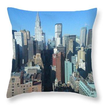 Throw Pillow featuring the photograph New York City Skyline by Dora Sofia Caputo Photographic Art and Design