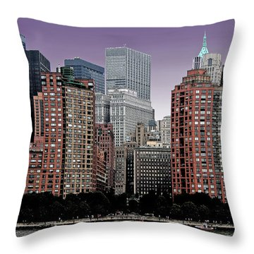 Throw Pillow featuring the photograph New York City Skyline Image by Christopher McKenzie
