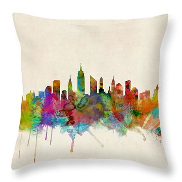 Times Square Throw Pillows