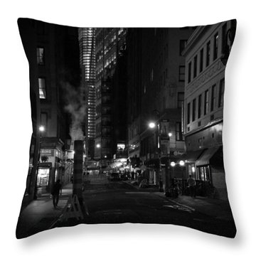 New York City Street - Night Throw Pillow by Vivienne Gucwa