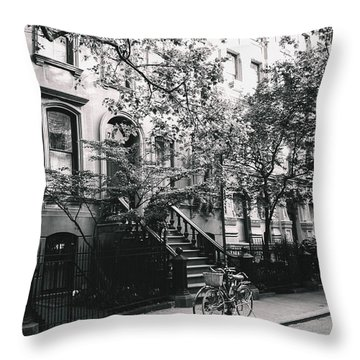 New York City - Summer - West Village Street Throw Pillow by Vivienne Gucwa