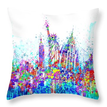 New York City Tribute 3 Throw Pillow