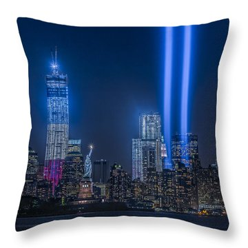 New York City Tribute In Lights Throw Pillow