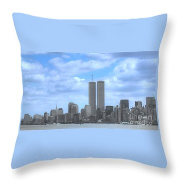New York City Twin Towers Glory - 9/11 Throw Pillow