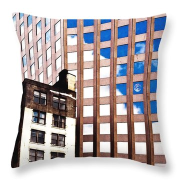 New York City Windows Throw Pillow