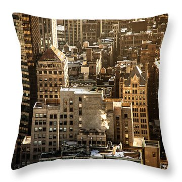 New York Cityscape Throw Pillow by Vivienne Gucwa