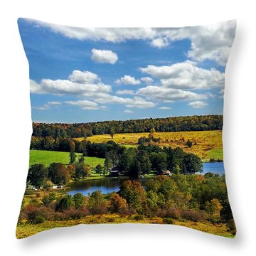 New York Countryside Throw Pillow by Christina Rollo
