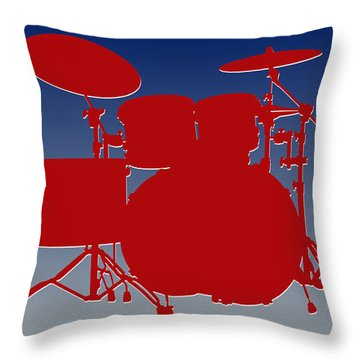 New York Giants Drum Set Throw Pillow by Joe Hamilton