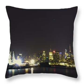 New York Harbor Throw Pillow
