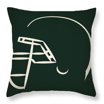 New York Jets Helmet Throw Pillow