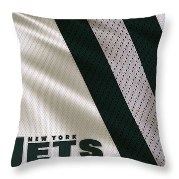 New York Jets Uniform Throw Pillow