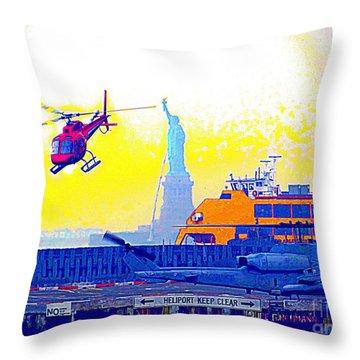 New York Life Throw Pillow by Ed Weidman