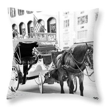 New York Throw Pillow by Lorna Maza