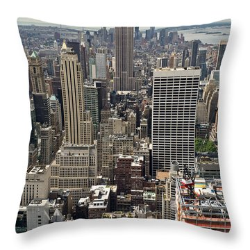 New York Midtown Skyscrapers Throw Pillow