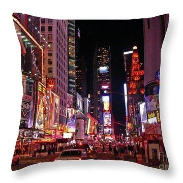 New York New York Throw Pillow by Angela Wright