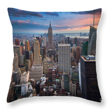 New York New York Throw Pillow by Inge Johnsson