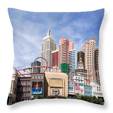 New York New York Las Vegas Throw Pillow by Jane Rix