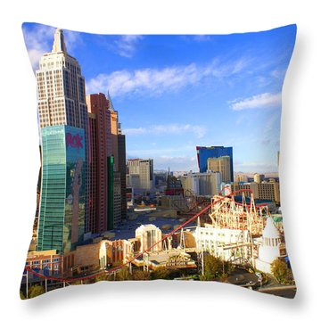 New York New York Las Vegas Nevada Throw Pillow