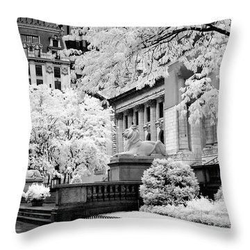 New York Public Library Ir Throw Pillow