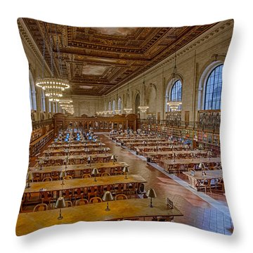 New York Public Library Rose Room  Throw Pillow by Susan Candelario