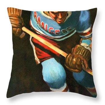 New York Rangers Vintage Poster Throw Pillow