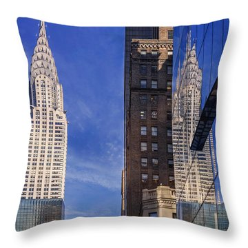 New York Reflections 20 Throw Pillow by Angela A Stanton