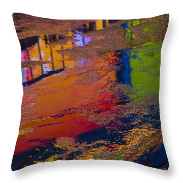 New York Reflections Throw Pillow by Garry Gay